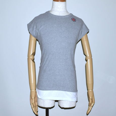 DOMESPAIR//French sleeve T-shirt【GRAY】
