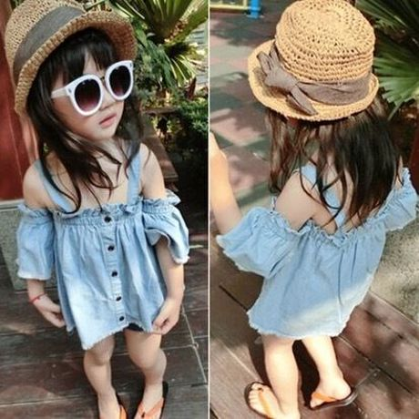 denim frill tops