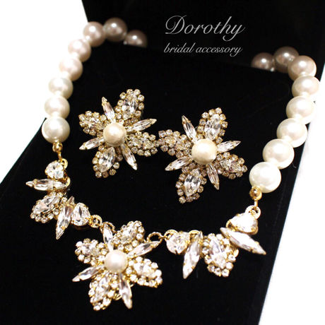 bridal accessory pierce(earring)&necklace SET