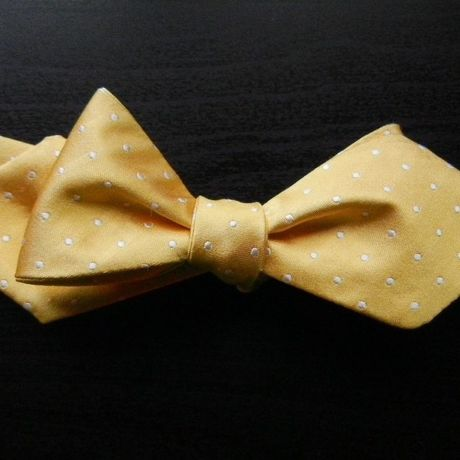 3P Silk Satin Dots Butterfly Tie (Yellow)
