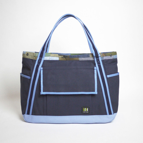 Adjustable Large Tote / Navy×Sax