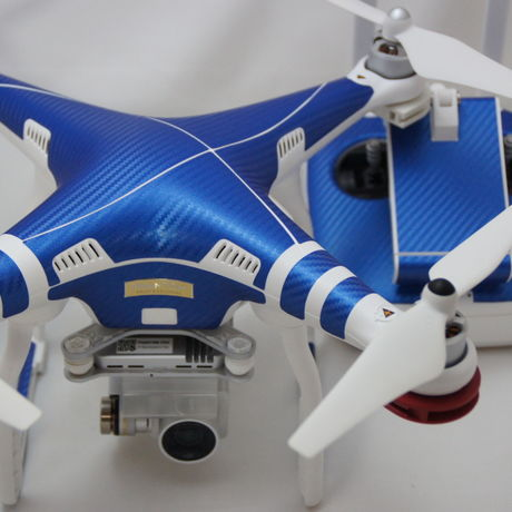 Carbon Blue skin seal for DJI Phantom 3 Professional/Advanced
