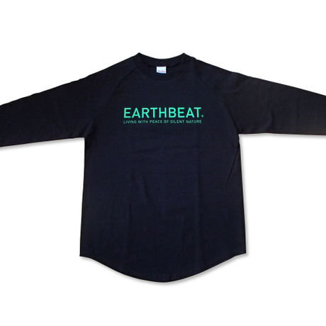 RAGLAN SLEEVE T-SHIRT  black×neon green