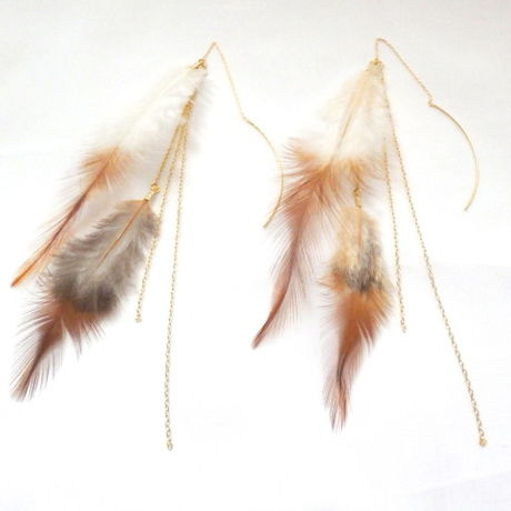Real Feather Long American Pierce