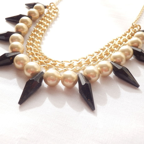 *ebee* Spike&Pearl Necklace