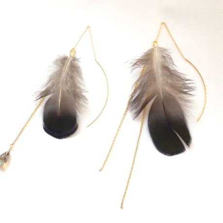 Real Feather Asymmetric American Pierce