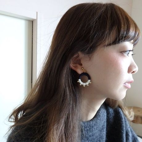 silk circle pierce / earring