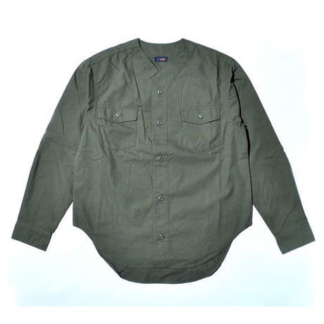 EDIJAM no-collar shirt