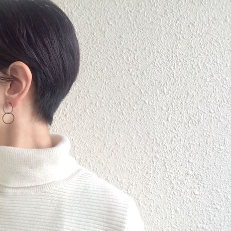 Ring earring , b2  / BK-BK