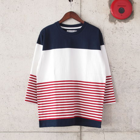HOUSE OF BLUES〈ハウスオブブルース〉 US COTTON BORDER Tee NAVY&WHITE