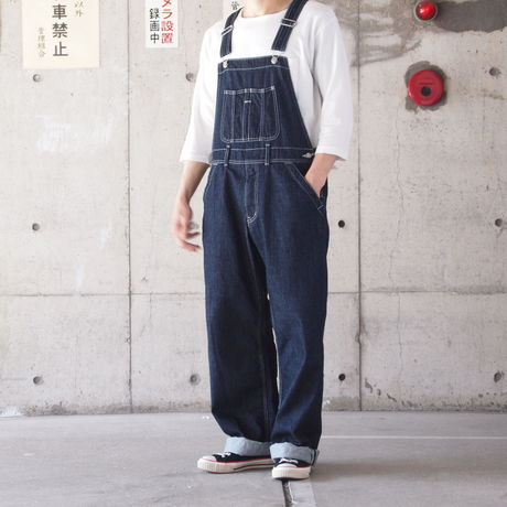 【unisex】Ordinary fits〈オーディナリーフィッツ〉 STORE OVER ALL one wash (OM-P085OW) INDIGO