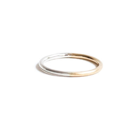 Double Color Gold Ring 1.2mm (#11, #13)