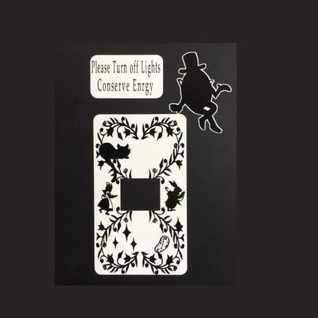 Alice in Wonderland Switch plate sticker