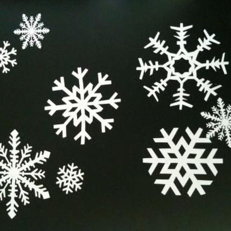 Snowflakes Cutting Sticker
