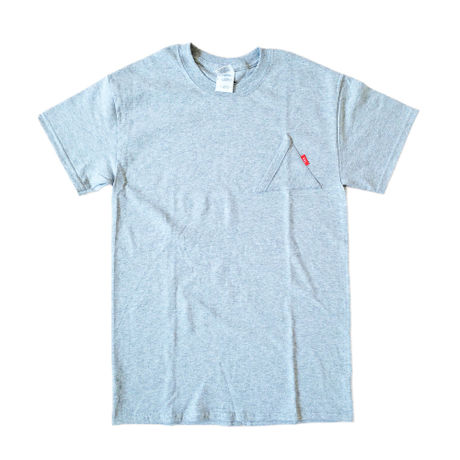 """EYL """"Triangle Pokcet"""" S/S TEE Heather Gray"""