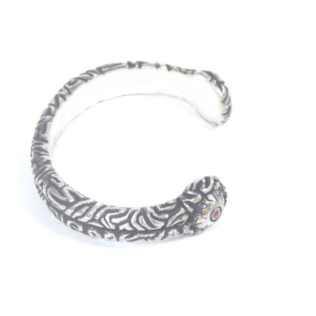 brain bangle silverplated