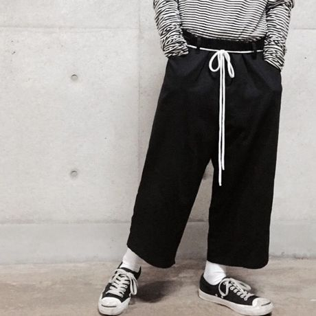 '85' Twill wide pants