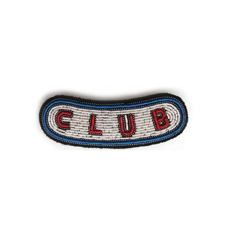 """MEDIUM HAND-EMBROIDERED """"CLUB"""" PIN ブローチ"""