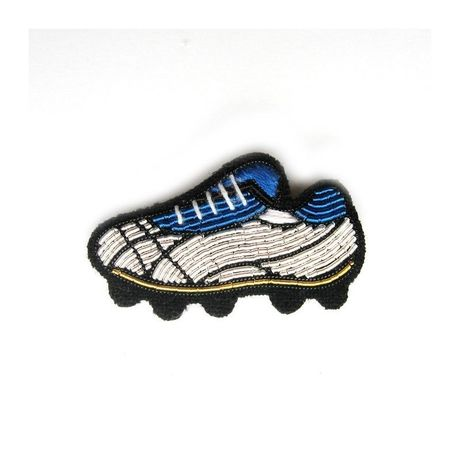 """MEDIUM HAND-EMBROIDERED """"FOOTBALL SHOE"""" PIN ブローチ"""