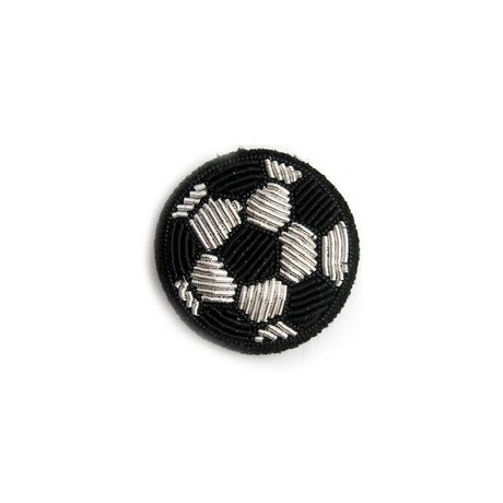 """MEDIUM HAND-EMBROIDERED """"BALL"""" PIN ブローチ"""