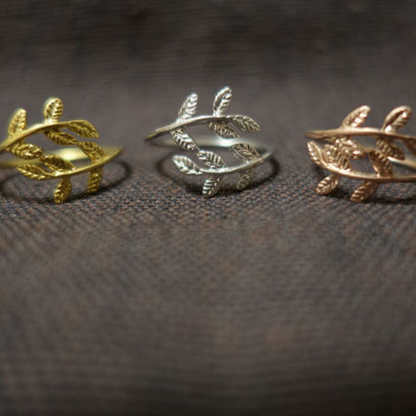 Leaf Rings (gold/silver/pink gold)