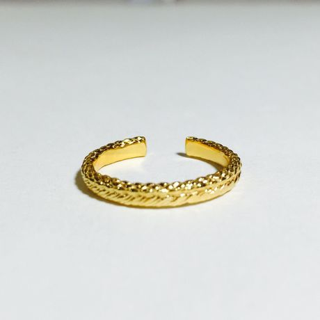 braid free ring (S)(gold)