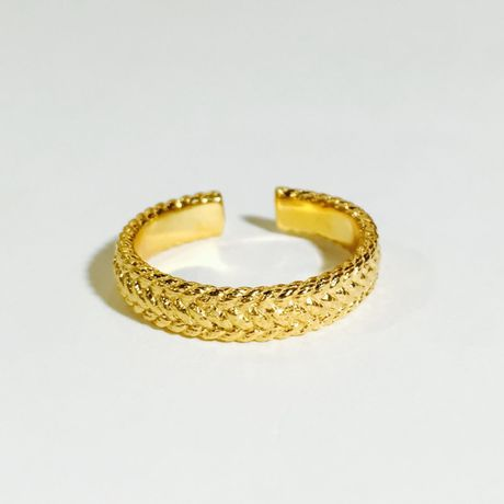 braid free ring (M)(gold)