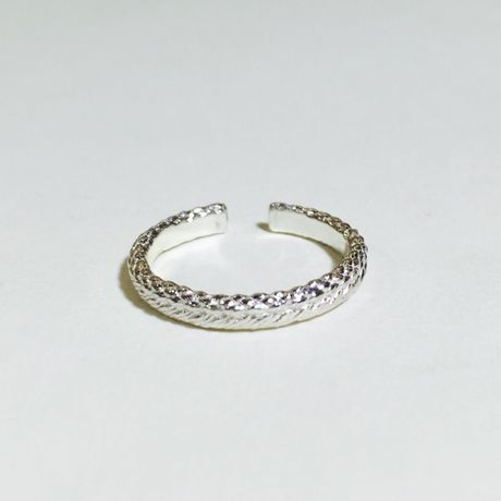 braid free ring (S)(silver)