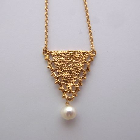 vintage tri necklace (gold)【受注販売・3週間待ち】