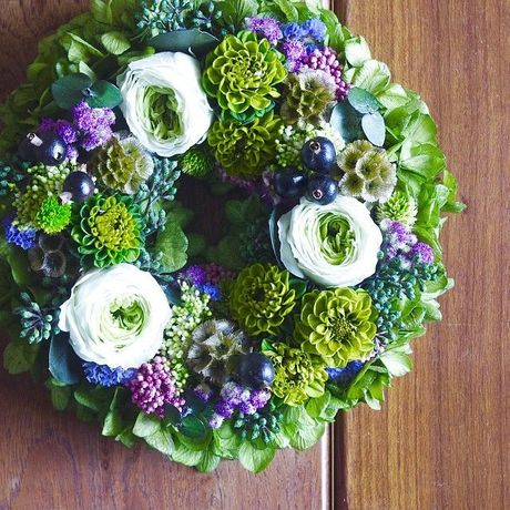 M size order-made preserved flowers wreath (約20cm~25cm)