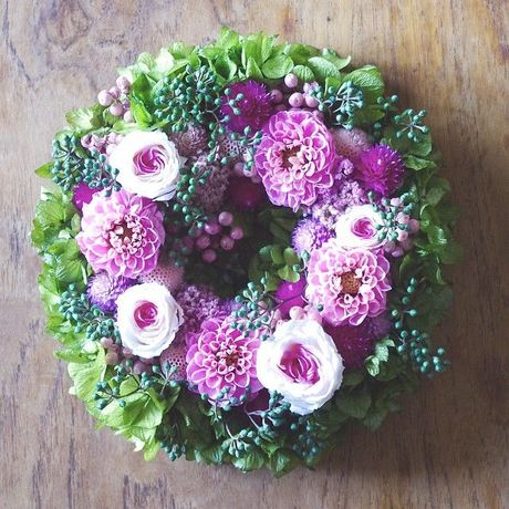 S size order-made preserved flowers wreath (約15cm~20cm)