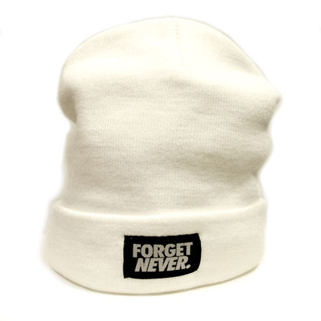 FORGET NEVER LONG BEANIE 【WHT】