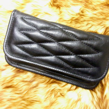 Horse Hide Padded Wallet   Brack Stitch -1