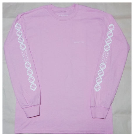 DNA L/S Tee Peach/White