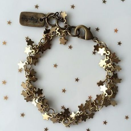Star-shaped chain bracelet