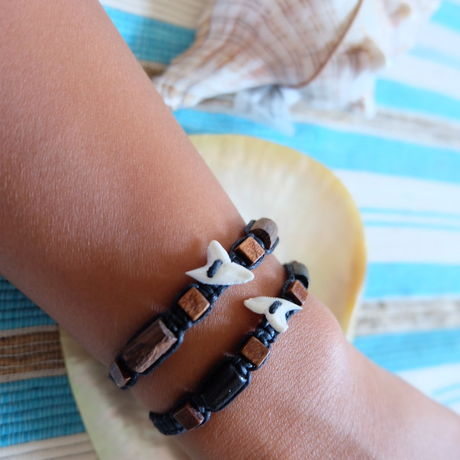 bracelet shark‐tooth black