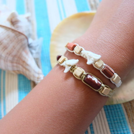 bracelet 鮫 shark-tooth white creamwhite