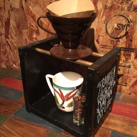 Coffee Drip Stand #2 〈Black & Metal〉