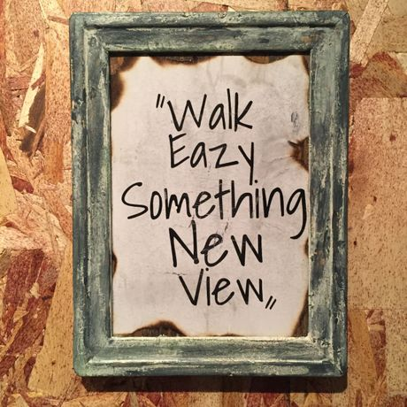 "Wall Mini Frame ""Walk Easy. Something New View"""
