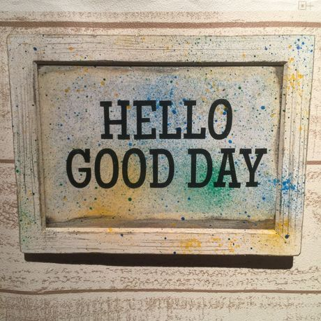 "Wall Mini Frame ""HELLO GOOD DAY"""