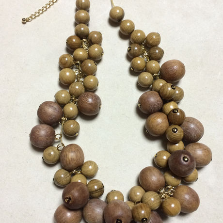 Wood necklace(FU-0006)
