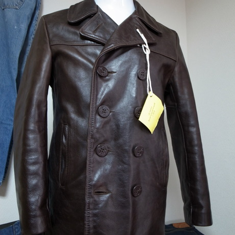 Schott leather P coat 日本サイズL程度 used