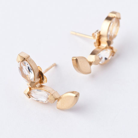 jaren(ヤーレン) three marquise earring ピアス