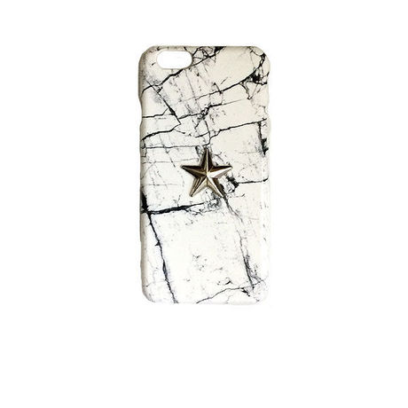 5.5inch GJALLARHORN ギャラルホルン iPhone ケース Marble stone textureWith ONESTAR  MARQUINA WHITE×SLV