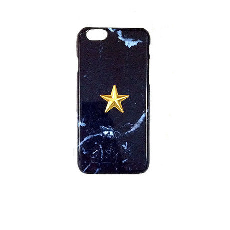 5.5inch GJALLARHORN ギャラルホルン iPhone ケース Marble stone textureWith ONESTAR NEGRO MARQUINA NAVY×GOLD