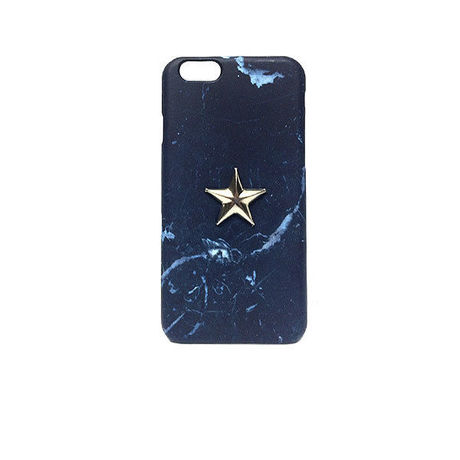 5.5inch GJALLARHORN ギャラルホルン iPhone ケース Marble stone textureWith ONESTAR NEGRO MARQUINA NAVY