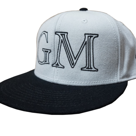 Logo-Snap Back Cap White & Black