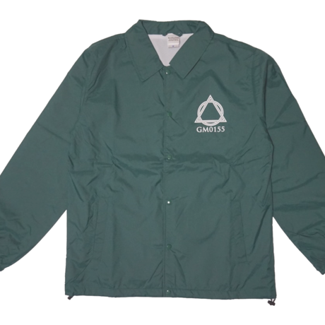 Logo-Coach Jacket Green