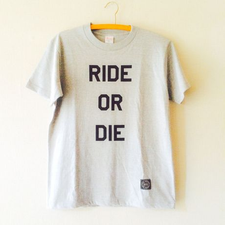 """T-SHIRTS """"RIDE OR DIE"""" GRAY"""