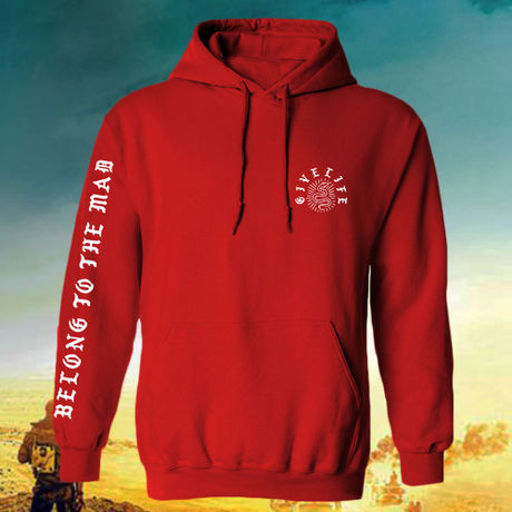 """Give Life """"Mad Hoodie"""" Red"""